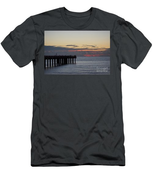 Men's T-Shirt (Slim Fit) featuring the photograph Sunny Isles Fishing Pier Sunrise by Rafael Salazar