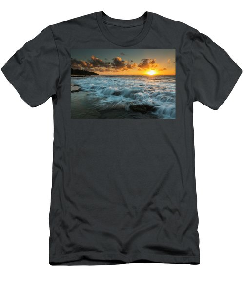 Sunrise And Surf On The East Coast Men's T-Shirt (Athletic Fit)