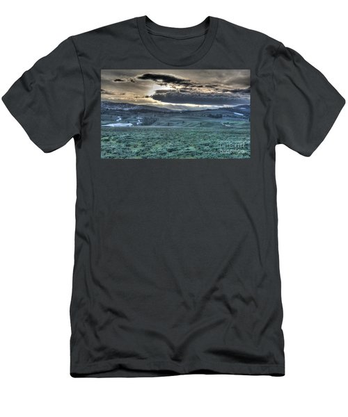 Sunrise At A Small Pond In Yellowstone Men's T-Shirt (Athletic Fit)