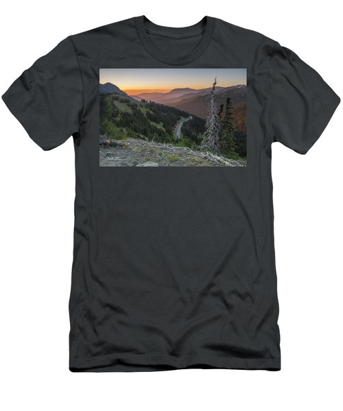Sunrise At Hurricane Ridge - Sunrise Peak Men's T-Shirt (Athletic Fit)