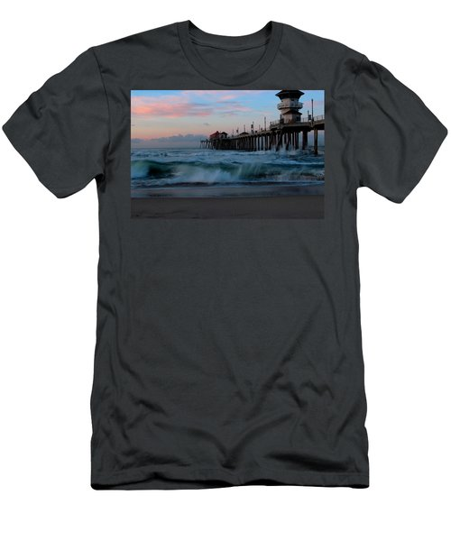 Sunrise At The Pier Men's T-Shirt (Slim Fit) by Duncan Selby