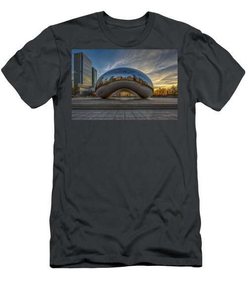 Men's T-Shirt (Athletic Fit) featuring the photograph Sunrise Cloud Gate by Sebastian Musial