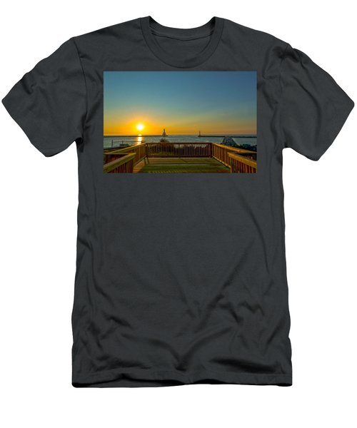 Sunrise Deck Men's T-Shirt (Athletic Fit)