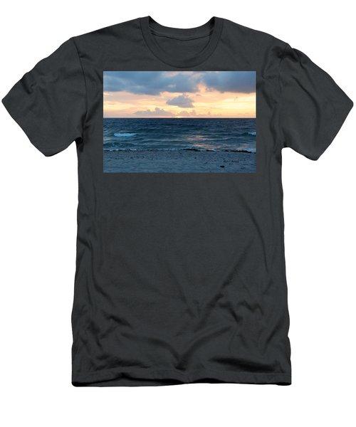 Men's T-Shirt (Slim Fit) featuring the photograph Sunrise In Deerfield Beach by Rafael Salazar