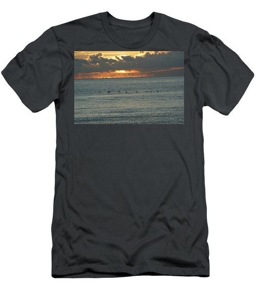 Men's T-Shirt (Slim Fit) featuring the photograph Sunrise In Florida Riviera by Rafael Salazar