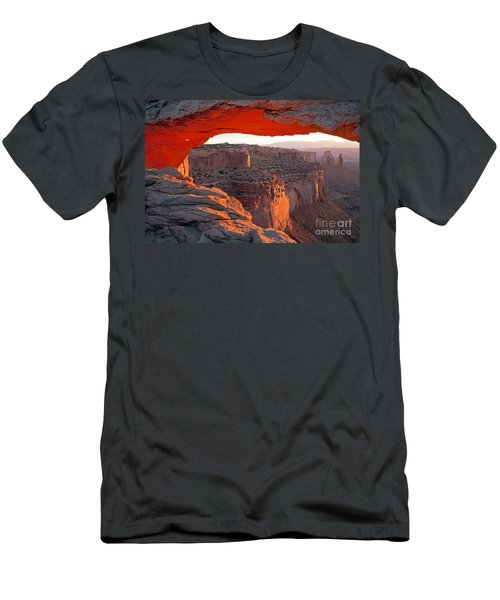 Sunrise Mesa Arch Canyonlands National Park Men's T-Shirt (Athletic Fit)