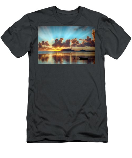 Sunrise Over Marine Corps Base Hawaii Men's T-Shirt (Athletic Fit)