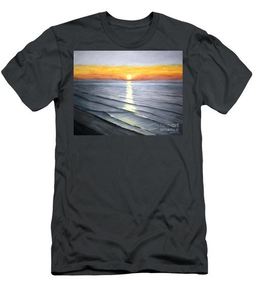 Men's T-Shirt (Slim Fit) featuring the painting Sunrise by Stacy C Bottoms
