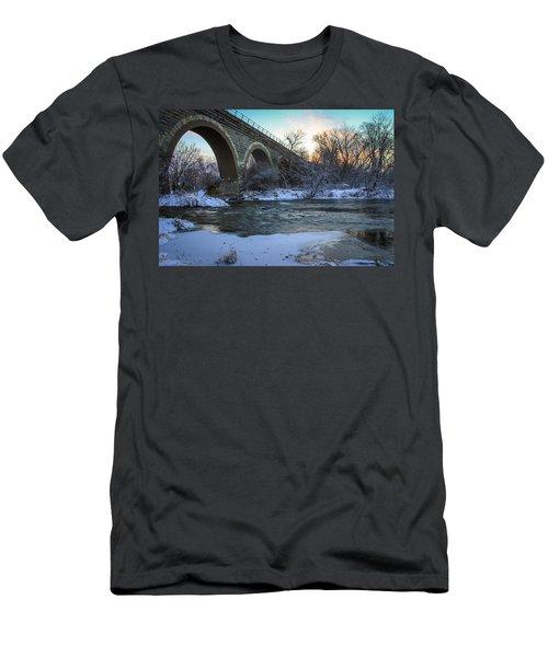 Sunrise Under The Bridge Men's T-Shirt (Athletic Fit)