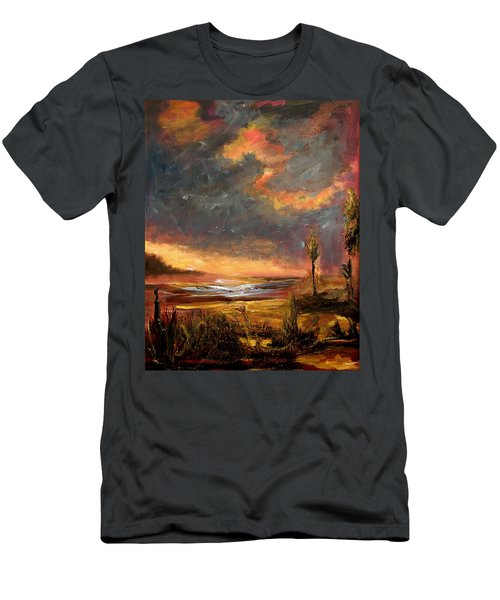 Sunrise With Birds  Men's T-Shirt (Athletic Fit)