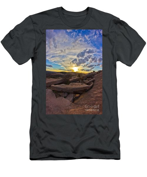 Sunset At Enchanted Rock State Natural Area Men's T-Shirt (Athletic Fit)