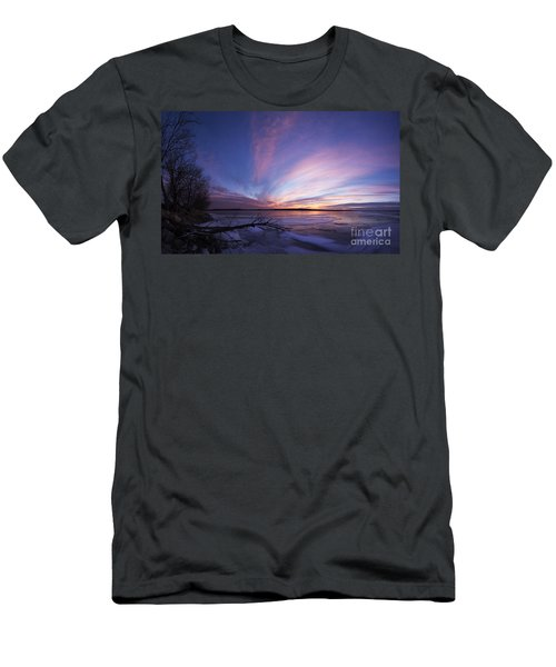 Sunset At Lovewell Lake Kansas Men's T-Shirt (Athletic Fit)