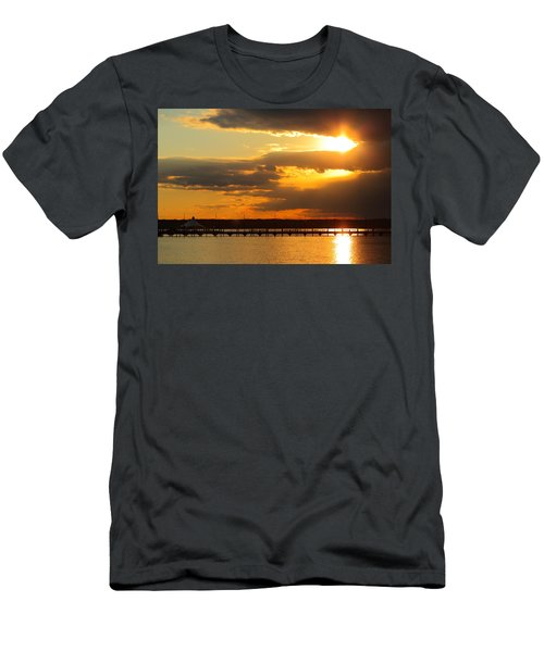 Sunset At National Harbor Men's T-Shirt (Athletic Fit)