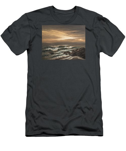 Sunset At Pacific Grove Men's T-Shirt (Athletic Fit)