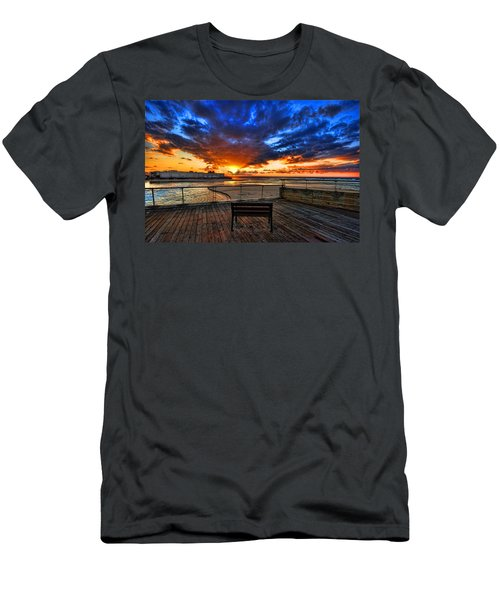 sunset at the port of Tel Aviv Men's T-Shirt (Athletic Fit)