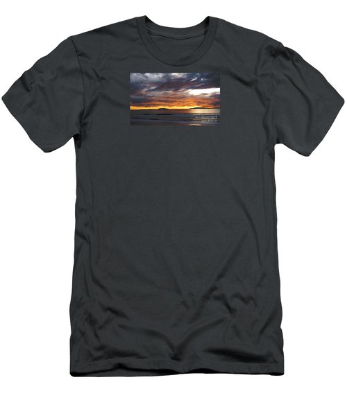 Sunset At The Shores Men's T-Shirt (Slim Fit) by Janice Westerberg