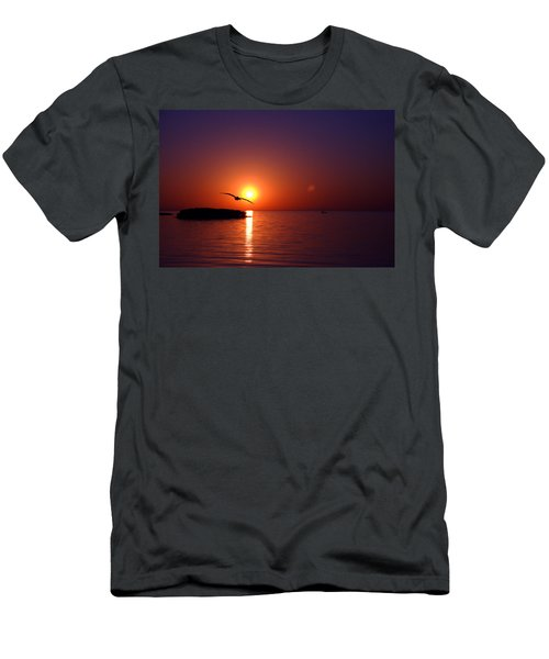 Sunset Blue Men's T-Shirt (Athletic Fit)