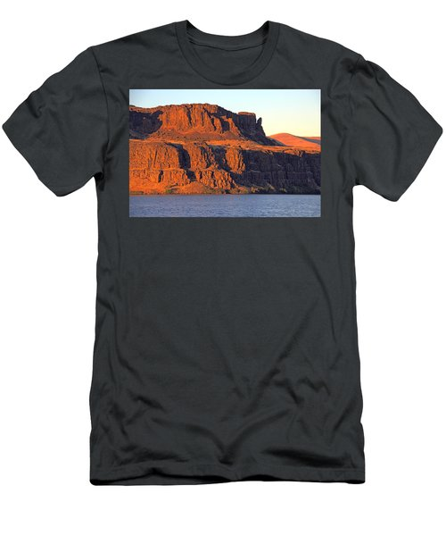 Men's T-Shirt (Athletic Fit) featuring the photograph Sunset Cliffs At Horsethief  by Talya Johnson