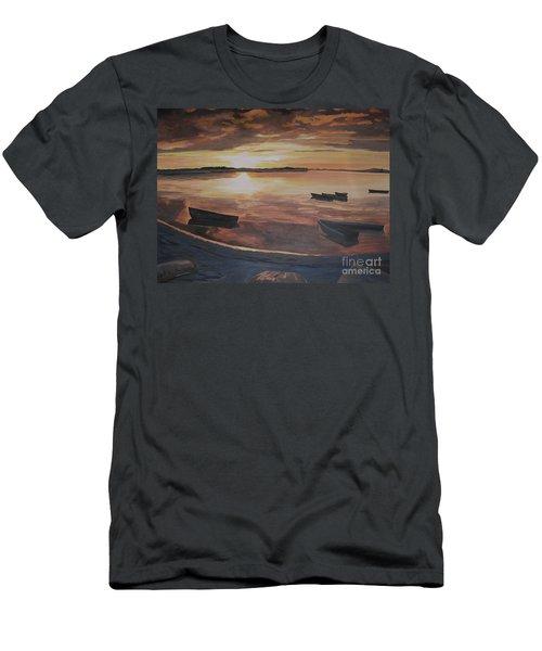 Sunset Evening Tide Men's T-Shirt (Athletic Fit)