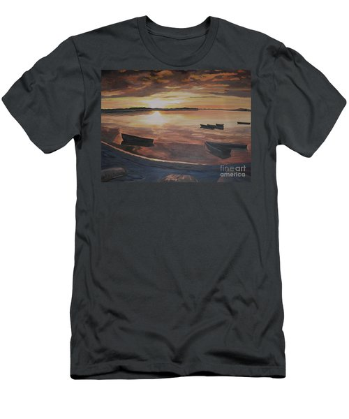 Sunset Evening Tide Men's T-Shirt (Athletic Fit)