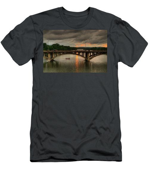 Sunset Fighting Through Men's T-Shirt (Athletic Fit)