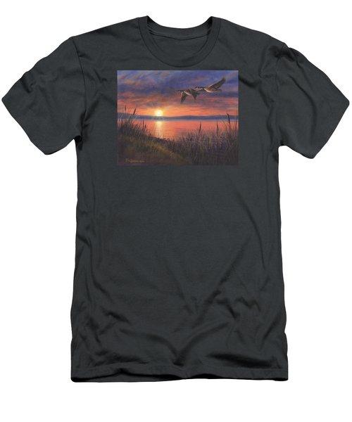 Sunset Flight Men's T-Shirt (Slim Fit) by Kim Lockman