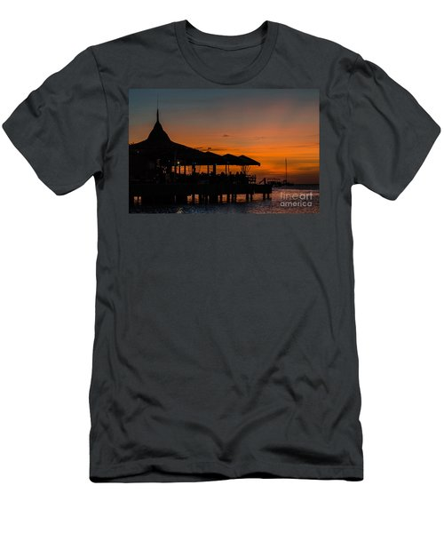 Sunset From Pelican Pier Men's T-Shirt (Athletic Fit)