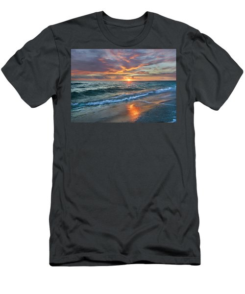 Men's T-Shirt (Athletic Fit) featuring the photograph Sunset Gulf Islands National Seashore by Tim Fitzharris