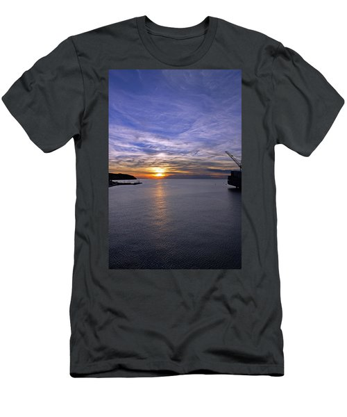 Sunset In Adriatic Men's T-Shirt (Athletic Fit)
