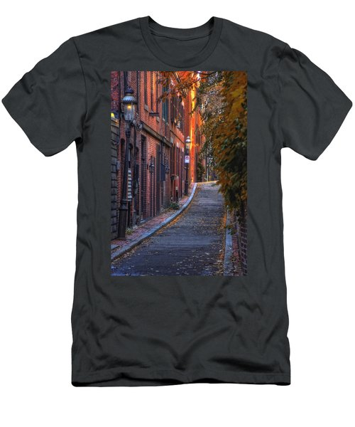 Sunset In Beacon Hill Men's T-Shirt (Slim Fit) by Joann Vitali