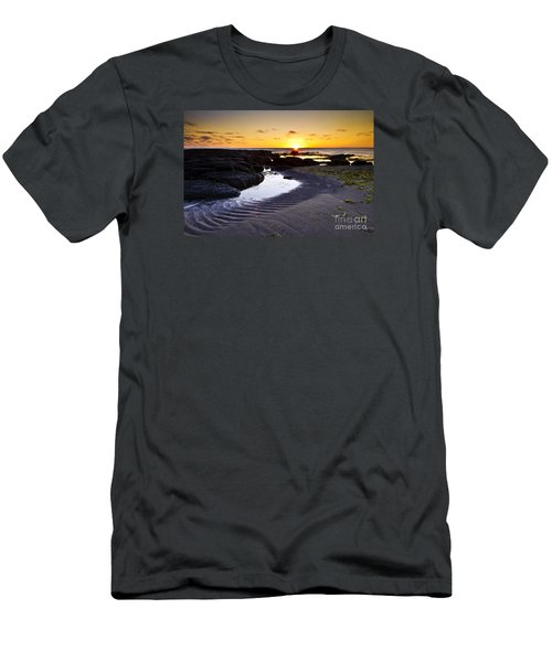 Men's T-Shirt (Slim Fit) featuring the photograph Sunset In Iceland by Gunnar Orn Arnason