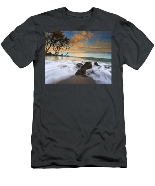 Sunset In Paradise Men's T-Shirt (Slim Fit) by Mike  Dawson