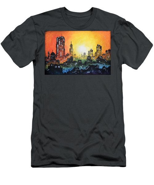Sunset In The City Men's T-Shirt (Slim Fit) by Amy Giacomelli