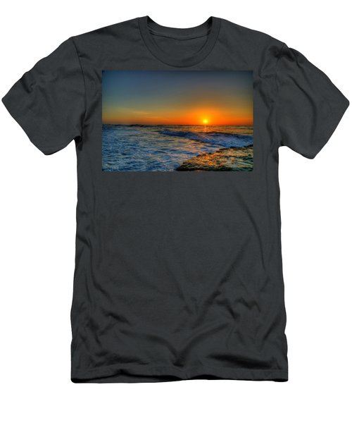 Sunset In The Cove Men's T-Shirt (Athletic Fit)