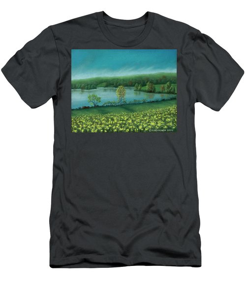 Sunset Lake C Men's T-Shirt (Athletic Fit)