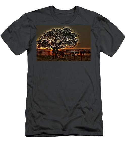 Sunset On A Texas Drought Men's T-Shirt (Athletic Fit)
