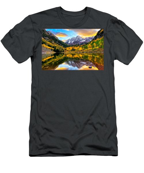 Sunset On Maroon Bells Men's T-Shirt (Athletic Fit)