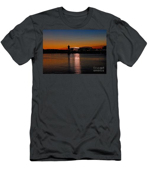 Sunset On Paul Brown Stadium Men's T-Shirt (Slim Fit) by Mary Carol Story