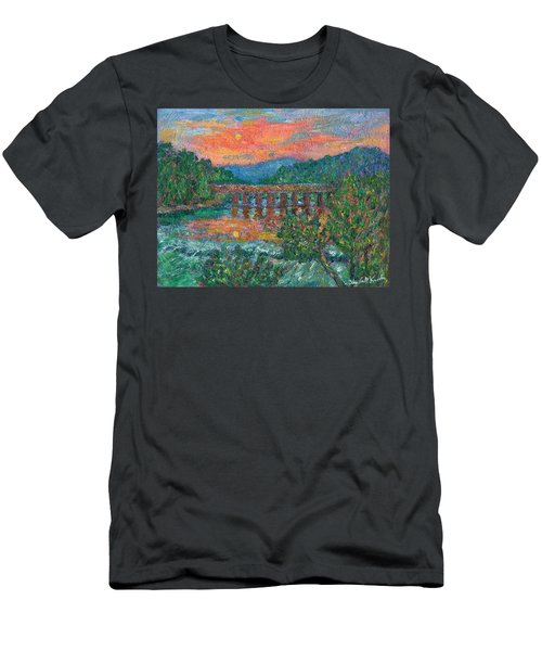 Sunset On The New River Men's T-Shirt (Athletic Fit)