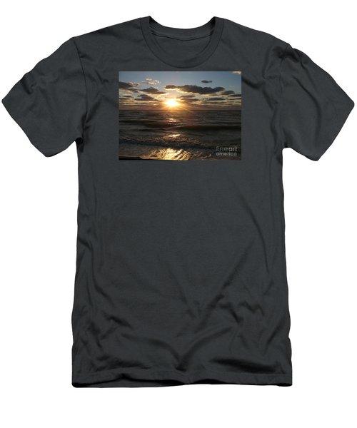 Sunset On Venice Beach  Men's T-Shirt (Athletic Fit)