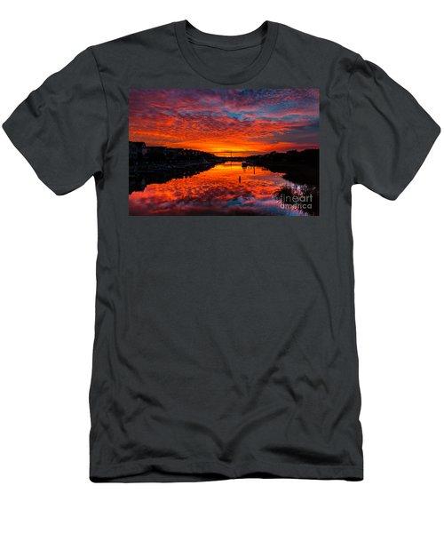 Sunset Over Morgan Creek - Wild Dunes Resort Men's T-Shirt (Athletic Fit)
