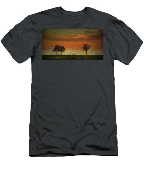 Sunset Over The Country Men's T-Shirt (Athletic Fit)