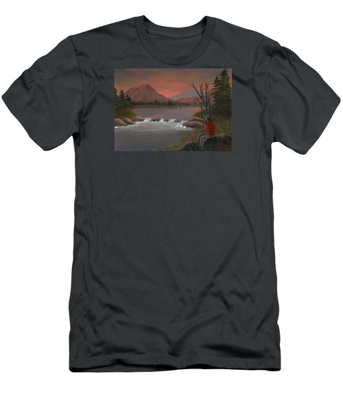 Men's T-Shirt (Slim Fit) featuring the painting Sunset Serenade by Sheri Keith