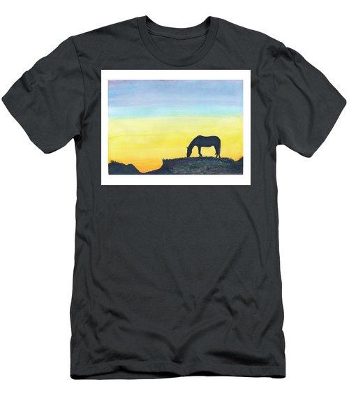 Sunset Silhouette Men's T-Shirt (Slim Fit) by C Sitton