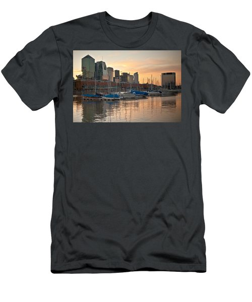 Men's T-Shirt (Slim Fit) featuring the photograph Buenos Aires Sunset by Silvia Bruno