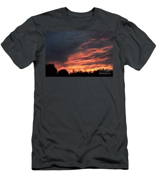 Men's T-Shirt (Slim Fit) featuring the photograph Sunset Streaks by Luther Fine Art