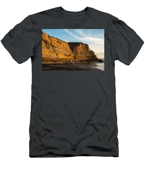 Sunset Walk At Flat Rock  La Jolla California Men's T-Shirt (Athletic Fit)