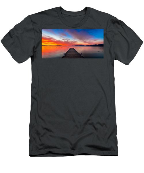 Sunset Walkway Men's T-Shirt (Athletic Fit)