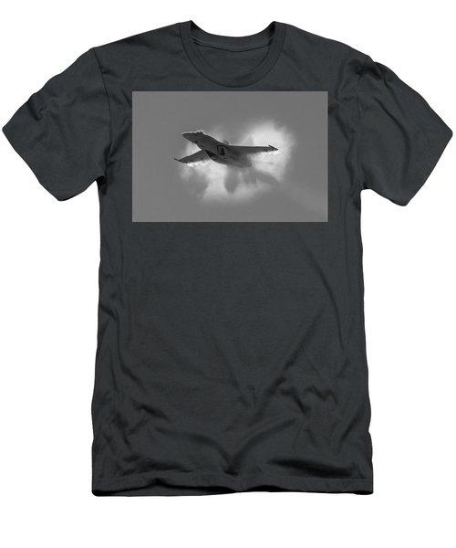 Super Hornet Shockwave Bw Men's T-Shirt (Athletic Fit)