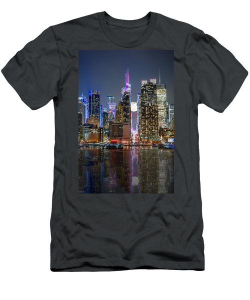 Super Moon At 42nd Street  Men's T-Shirt (Athletic Fit)